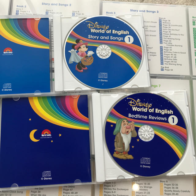 Disney(ディズニー)の専用 DWE メインプログラムCD 14枚 最新版 エンタメ/ホビーのCD(キッズ/ファミリー)の商品写真