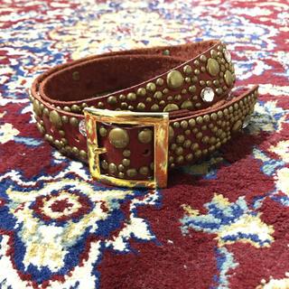 JOHN LAWRENCE SULLIVAN - VINTAGE studs & bijou gold buckle belt