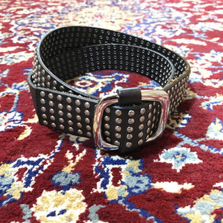 JOHN LAWRENCE SULLIVAN - VINTAGE all-studs taping leather belt