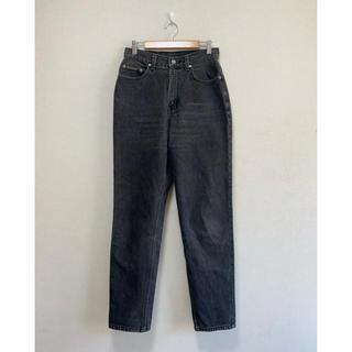 カルバンクライン(Calvin Klein)の90s USA製 カルバンクライン テーパード ブラック デニム ハイウエスト(デニム/ジーンズ)