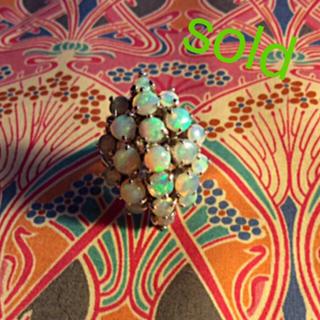 確認用ページ アンティーク オパールの紫陽花の様なリング (リング(指輪))