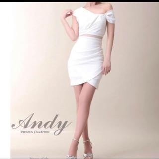 アンディ(Andy)のAndy ホワイトワンショルダードレスワンピース(ナイトドレス)