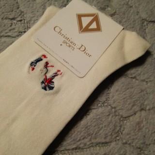 クリスチャンディオール(Christian Dior)の未使用 Christian Dior  婦人ハイソックス GOLF 22~24(ソックス)