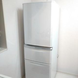 三菱電機 - 美品2019年製 三菱 冷蔵庫 MR-C34D W(パールホワイト)