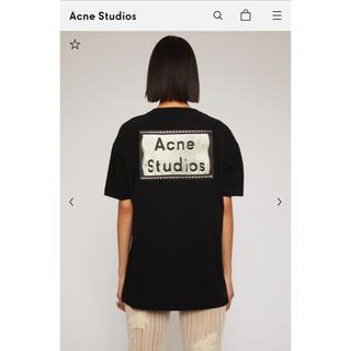 アクネ(ACNE)のアクネ 反転ラベル付きTシャツ ブラック XXS(Tシャツ(半袖/袖なし))
