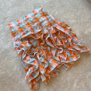 MSGM - MSGM ギンガムチェック ワッフル フリル スカート