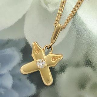 MIKIMOTO - ☆上品 一粒ダイヤ エレガント デザインペンダントトップ☆ K18 ゴールド
