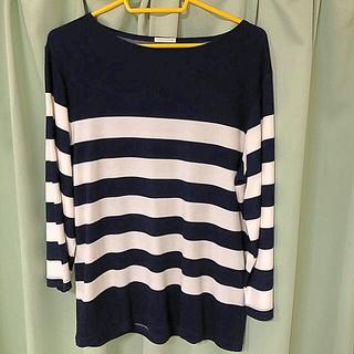 ジーユー(GU)のGU 七分袖ボーダーシャツ Mサイズ(Tシャツ/カットソー(七分/長袖))
