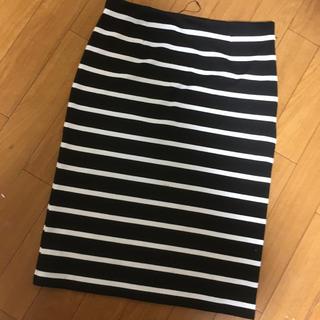 ダズリン(dazzlin)のdazzlin ボーダーペンシルスカート(ひざ丈スカート)