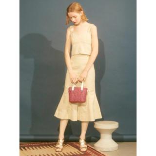 リリーブラウン(Lily Brown)のリリーブラウン スカート  ベージュ ハイウエスト マーメイド(ひざ丈スカート)
