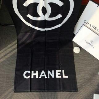 CHANEL - シャネル カシミヤ ロゴ CC ブラックマフラー