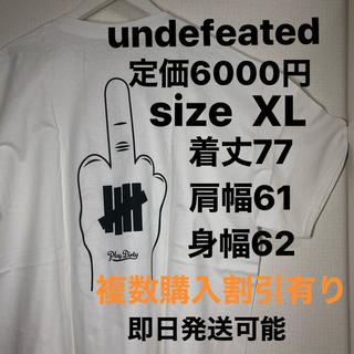 UNDEFEATED - XL込 undefeated T fuck off tee 白 xlarge
