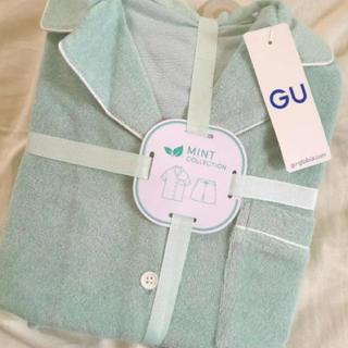 ジーユー(GU)の新品タグ付き♡ジーユー サボン パジャマ セパレート M ミント(パジャマ)