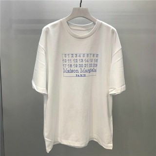Maison Martin Margiela - Maison Margieia 数字 半袖 Tシャツ 男女兼用