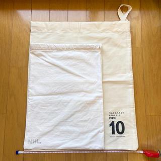 マーガレットハウエル(MARGARET HOWELL)のMHL 巾着 エコバッグ 保存袋 2枚(ショップ袋)
