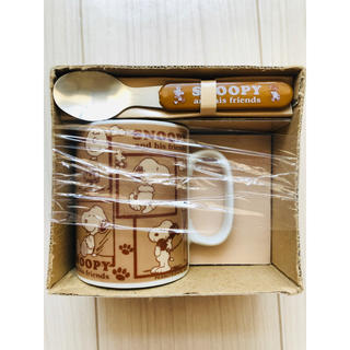 スヌーピー(SNOOPY)のPEANUTSスヌーピー マグカップ&スプーンセット(グラス/カップ)