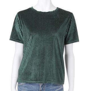 アングリッド(Ungrid)のungrid   カラーベロアTee (グリーン)  新品(Tシャツ(半袖/袖なし))