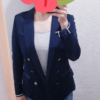 アンタイトル(UNTITLED)の最終値下げ 美品 紺ダブルブレザー(テーラードジャケット)