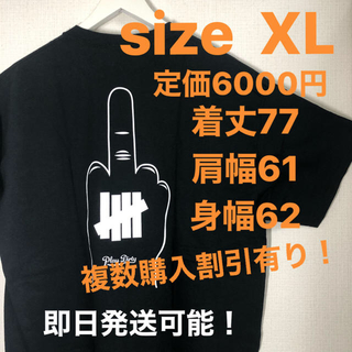 UNDEFEATED - XL込 undefeated T fuck off tee 黒 xlarge