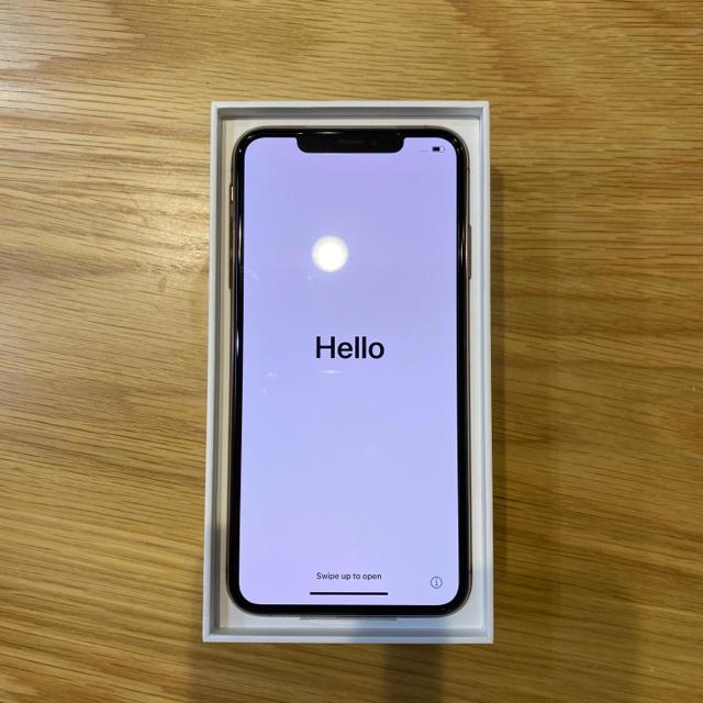 Apple(アップル)のiPhone Xs Max Gold 256 GB SIMフリー スマホ/家電/カメラのスマートフォン/携帯電話(スマートフォン本体)の商品写真