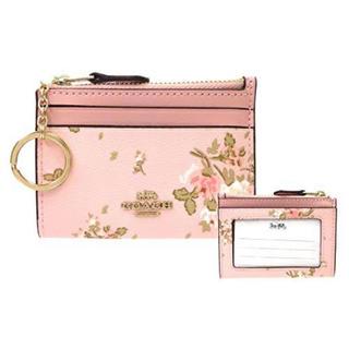 COACH - タグ付き新品★COACH(コーチ) ピンク 花柄 レザー コインケース