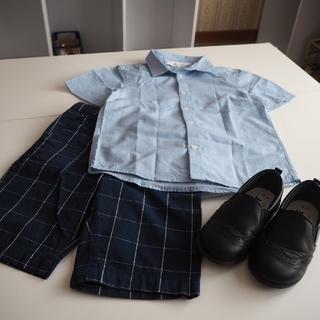 H&M - エイチアンドエム H&M 半袖シャツ半ズボン シューズセット