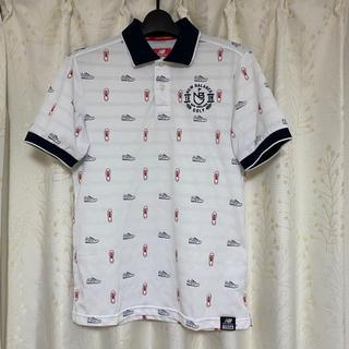 ニューバランス(New Balance)のニューバランスゴルフ メンズ半袖ポロシャツ モノグラム柄 SIZE 5(L)(ポロシャツ)