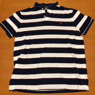 POLO RALPH LAUREN - ポロ ラルフローレン ポロシャツ 刺繍ロゴ ボーダー ビッグシルエット L