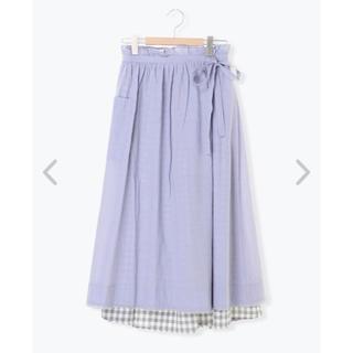 サマンサモスモス(SM2)のラベンダースカート☆(ロングスカート)