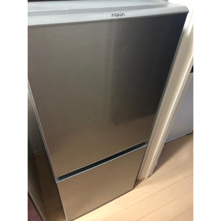 AQUA 2ドア冷蔵庫 AQR-13G(S) 2018年製(冷蔵庫)