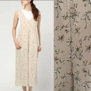 merlot - メルロー サロペット 花柄 フリーサイズ