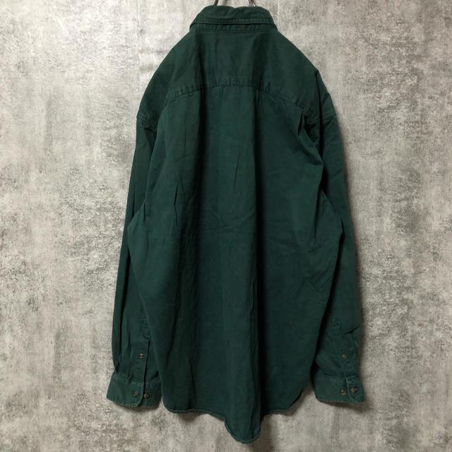 GAP(ギャップ)の【激レア】オールドギャップGAP☆ポケット付きビッグワークチノシャツ 90s メンズのトップス(シャツ)の商品写真