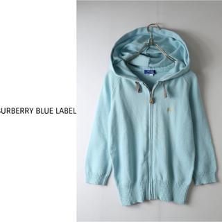 BURBERRY BLUE LABEL - バーバリー BURBERRY BLUE LABEL ジップニット パーカー