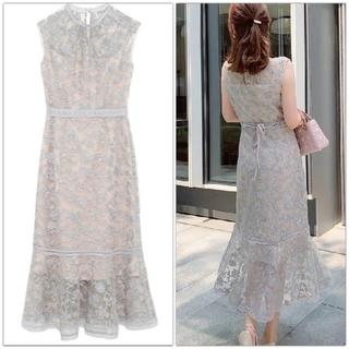 FRAY I.D - オーガンジー刺繍ドレス