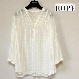 ROPE - 【美品】ROPE ♡格子柄ブラウス プルオーバー
