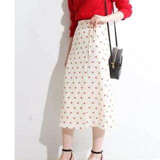イエナ(IENA)の美品 IENA  ROUJE Cherry GLORIA 38サイズ(ひざ丈スカート)