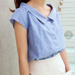 IENA - IENA デザインカラーCOシャツブラウス◆サックスブルー