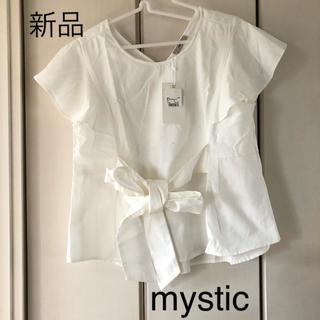 mystic - 新品☆ミスティック ウエストリボン フリル袖プルオーバー