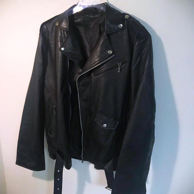 ZARA(ザラ)のダブルライダースジャケット オーバーサイズ  韓国 dude9 メンズのジャケット/アウター(ライダースジャケット)の商品写真