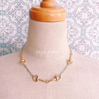 エル(ELLE)の【ELLE】フランス製 ツインカラー チェーンネックレス 美品(ネックレス)
