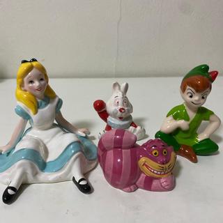 ディズニー(Disney)のディズニーランド購入 不思議の国のアリス ピーターパン ガラス細工(キャラクターグッズ)