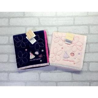 JILLSTUART - 送料無料■ジルスチュアート■桜×ドレス柄 タオルハンカチ■2枚セット②