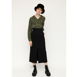 SLY - SHADOW LEO FRONT SLIT ハイウエストスリットスカート