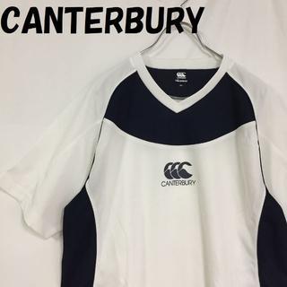 カンタベリー(CANTERBURY)の【人気】CANTERBURY ドライ Tシャツ ホワイトxネイビー サイズXL(Tシャツ/カットソー(半袖/袖なし))