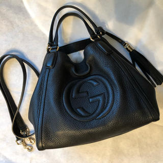 Gucci - GUCCI SOHO 2way ブラック サイズ幅23cm☆GUCCI☆