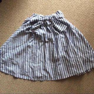 シマムラ(しまむら)の新品!ストライプ スカート(ひざ丈スカート)