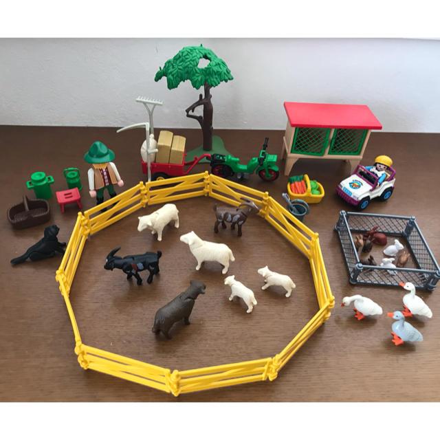 Lego(レゴ)のプレイモービル 2000年イースターエッグ 3078 農家 ウサギ小屋 3075 エンタメ/ホビーのおもちゃ/ぬいぐるみ(その他)の商品写真