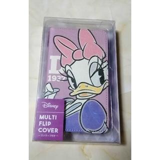 ディズニー(Disney)のデイジー スマートフォンケース 手帳型(モバイルケース/カバー)