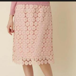 クチュールブローチ(Couture Brooch)のクチュールブローチのレーススカート(ひざ丈スカート)