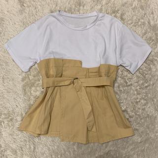 dholic - DHOLIC*ウエスト切替Tシャツ